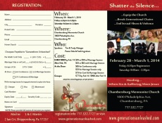 Chambersburg conference brochure outside