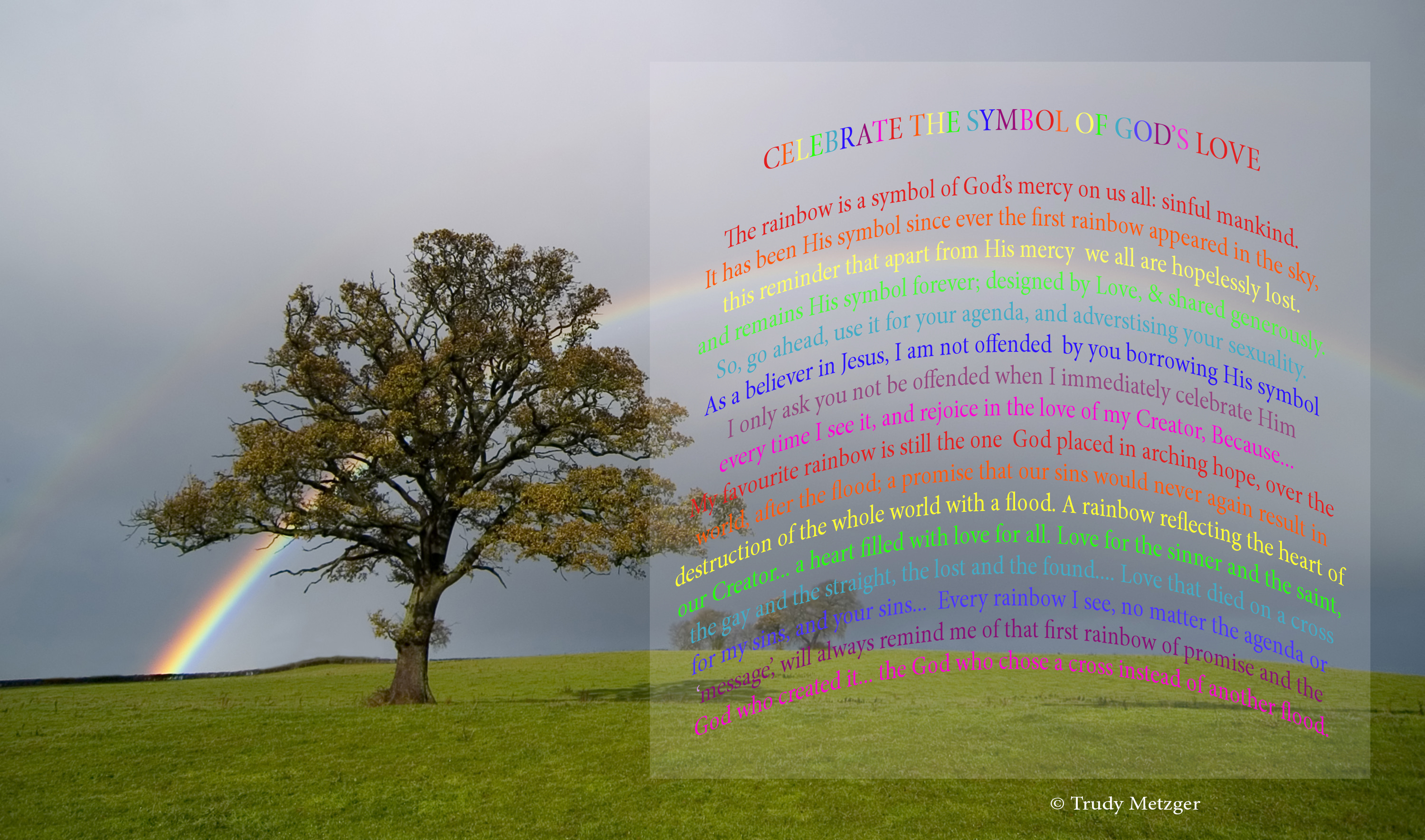 Of Rainbows Love Sharing Gods Grace Trudy Metzgers Blog
