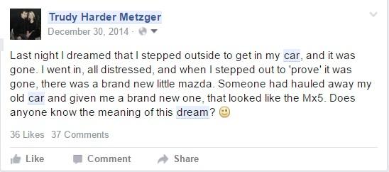 facebook status dream